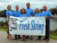 Sumter County Shrimp partners (L to R): Julie Templeton, Shawn Templeton, Nita Stegall, Lee Stegall, Shannon Templeton, and Eddie Templeton.